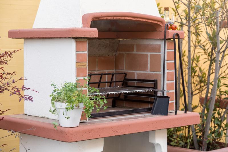 barbecue in muratura particolare - cile
